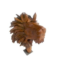 Akar Jati Sculptured Lion Head